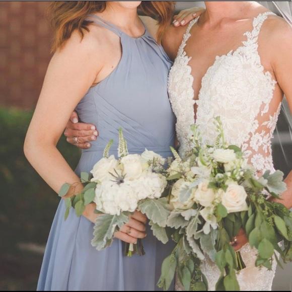 d9283ca620 Azazie Dresses   Skirts - Azazie Melinda - Dusty Blue Bridesmaid Dress